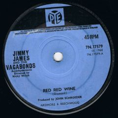 Jimmy James and The Vagabonds Red Red Wine Pye